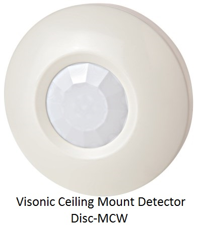 Visonic Ceiling Mount Detector Disc-MCW