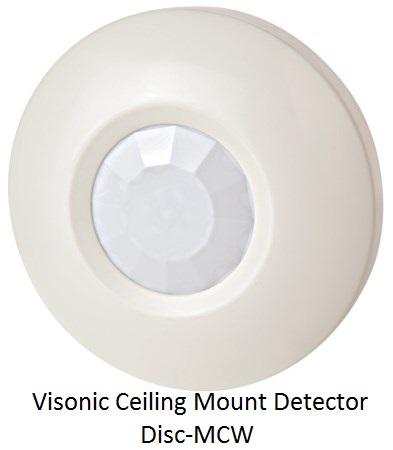 Visonic Ceiling Mount Detector Disc-MCW