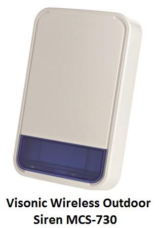 Visonic Wireless Outdoor Siren MCS-730